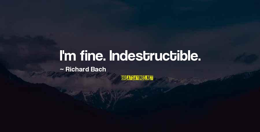 Invisible Man Barbee Sayings By Richard Bach: I'm fine. Indestructible.