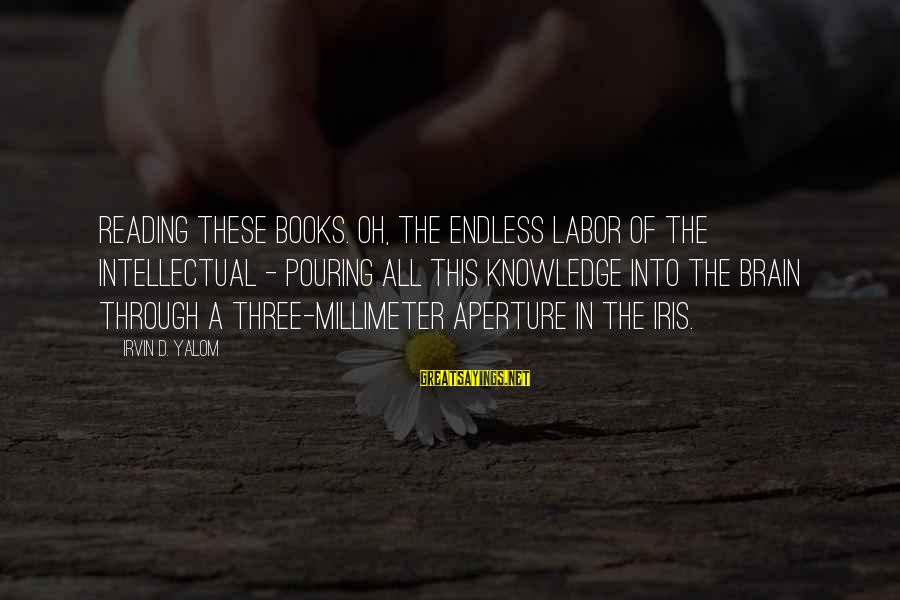 Irvin Sayings By Irvin D. Yalom: Reading these books. Oh, the endless labor of the intellectual - pouring all this knowledge