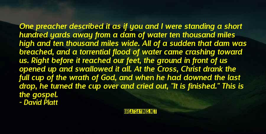 I've Cried Over You Sayings By David Platt: One preacher described it as if you and I were standing a short hundred yards