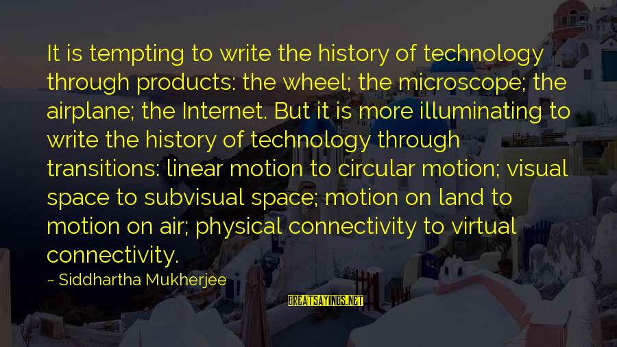 James Madison Tyranny Sayings By Siddhartha Mukherjee: It is tempting to write the history of technology through products: the wheel; the microscope;