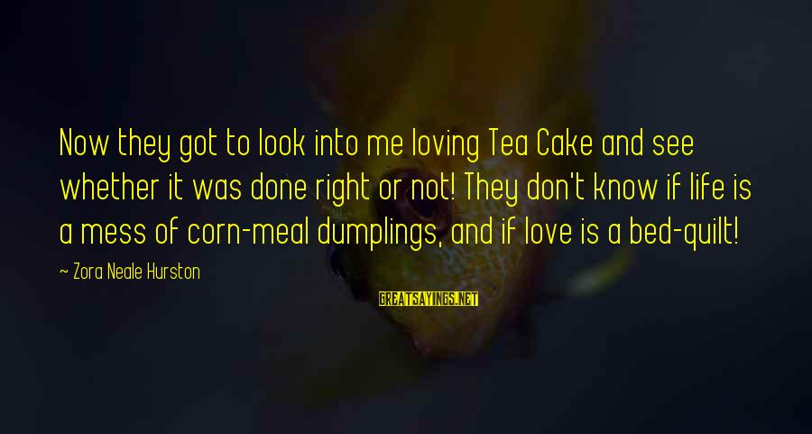 Jelly Fox Sayings By Zora Neale Hurston: Now they got to look into me loving Tea Cake and see whether it was
