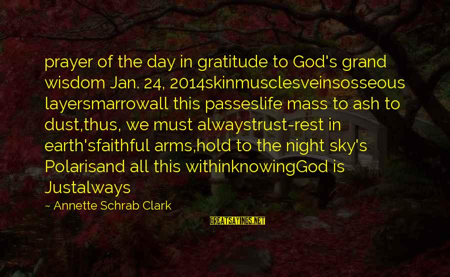 Justice And Death Sayings By Annette Schrab Clark: prayer of the day in gratitude to God's grand wisdom Jan. 24, 2014skinmusclesveinsosseous layersmarrowall this