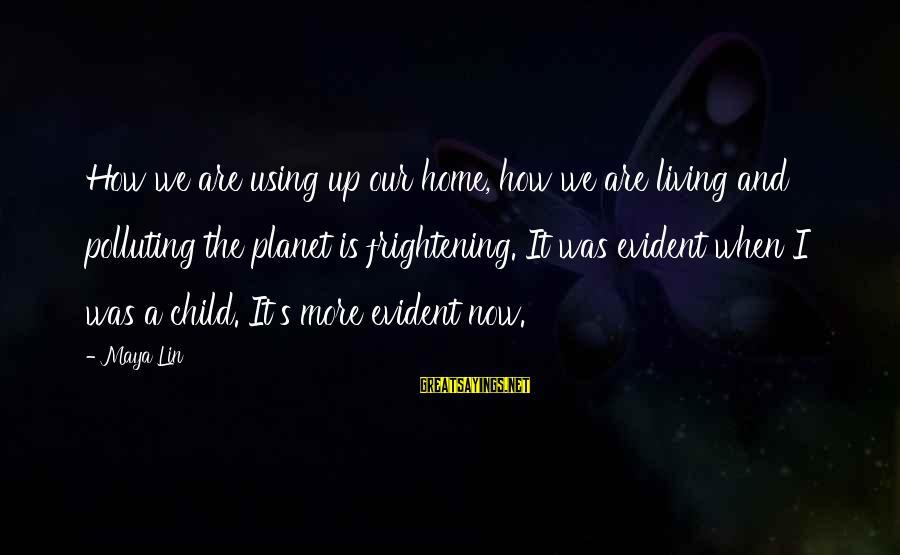 Kawalan Ng Oras Sa Relasyon Sayings By Maya Lin: How we are using up our home, how we are living and polluting the planet