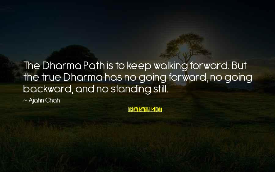 Keep Going Forward Sayings By Ajahn Chah: The Dharma Path is to keep walking forward. But the true Dharma has no going