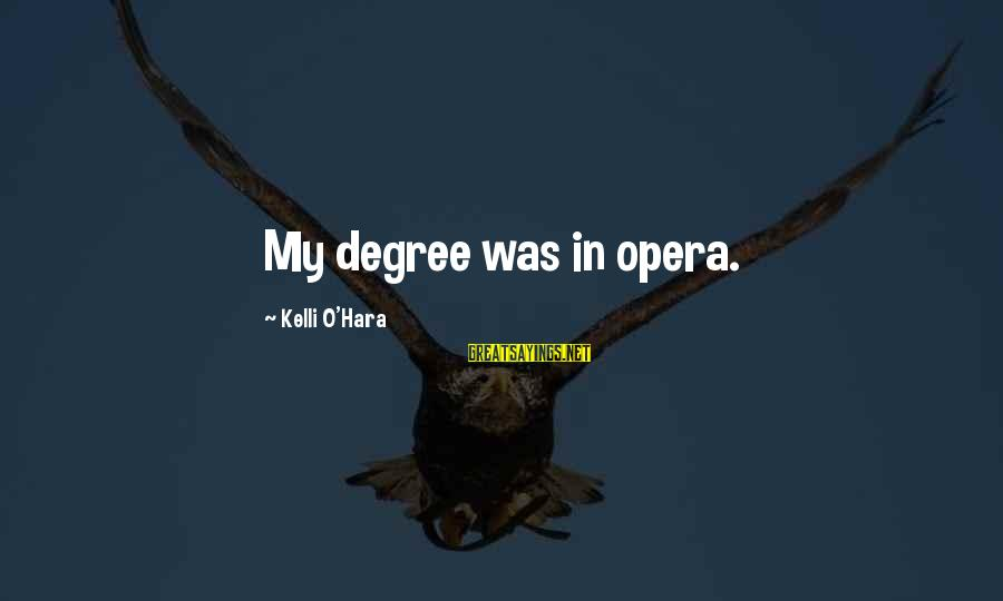 Kelli Sayings By Kelli O'Hara: My degree was in opera.