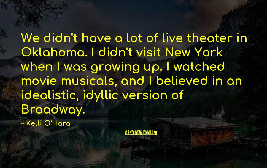 Kelli Sayings By Kelli O'Hara: We didn't have a lot of live theater in Oklahoma. I didn't visit New York