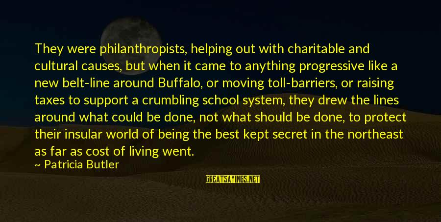 Kept Secret Sayings By Patricia Butler: They were philanthropists, helping out with charitable and cultural causes, but when it came to