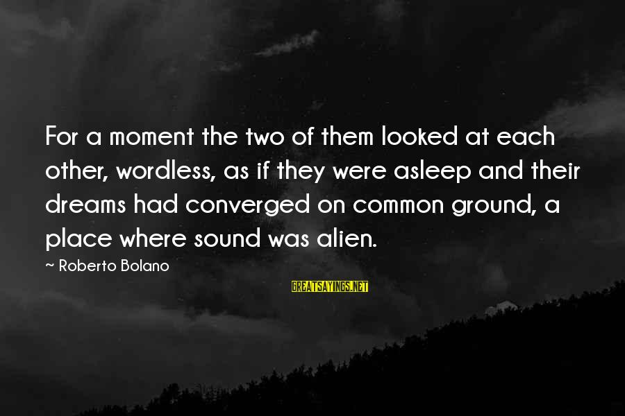 Kerrie Sayings By Roberto Bolano: For a moment the two of them looked at each other, wordless, as if they