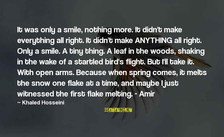 Khaled's Sayings By Khaled Hosseini: It was only a smile, nothing more. It didn't make everything all right. It didn't