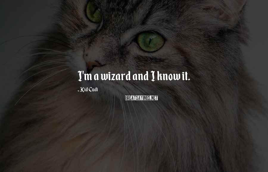 Kid Cudi Sayings: I'm a wizard and I know it.
