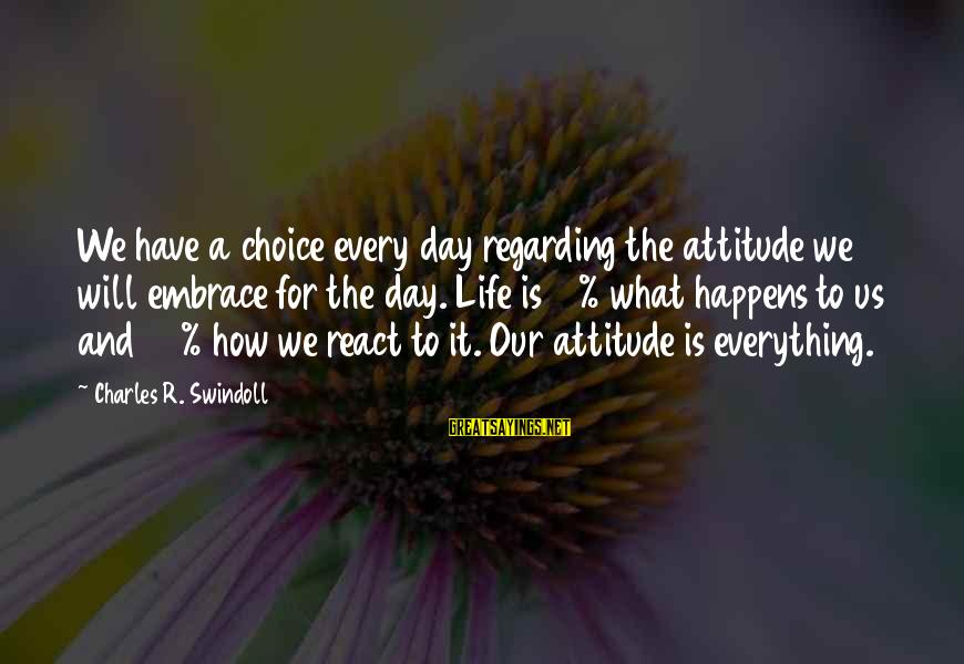 Kitten Pics With Sayings By Charles R. Swindoll: We have a choice every day regarding the attitude we will embrace for the day.