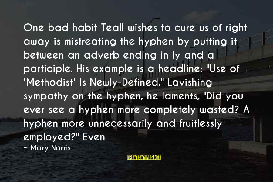 Laments Sayings By Mary Norris: One bad habit Teall wishes to cure us of right away is mistreating the hyphen