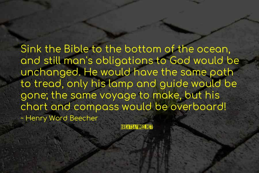 Lamp Sayings By Henry Ward Beecher: Sink the Bible to the bottom of the ocean, and still man's obligations to God