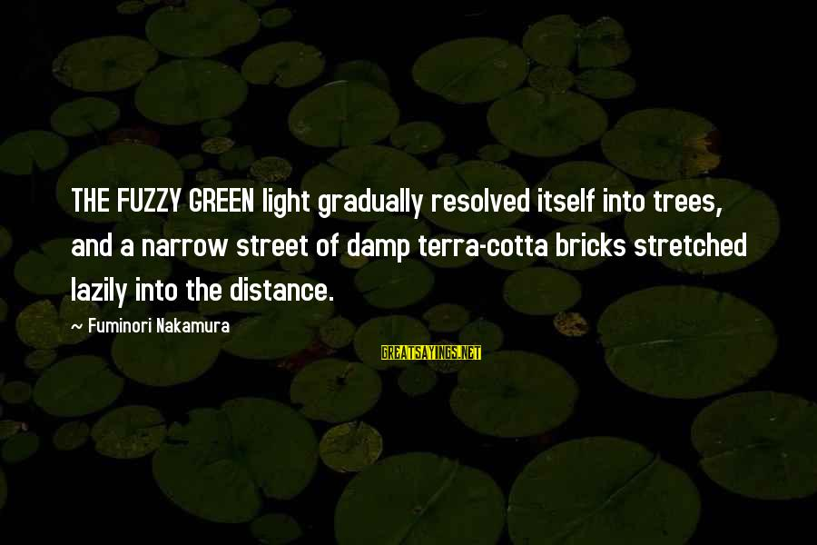 Lazily Sayings By Fuminori Nakamura: THE FUZZY GREEN light gradually resolved itself into trees, and a narrow street of damp