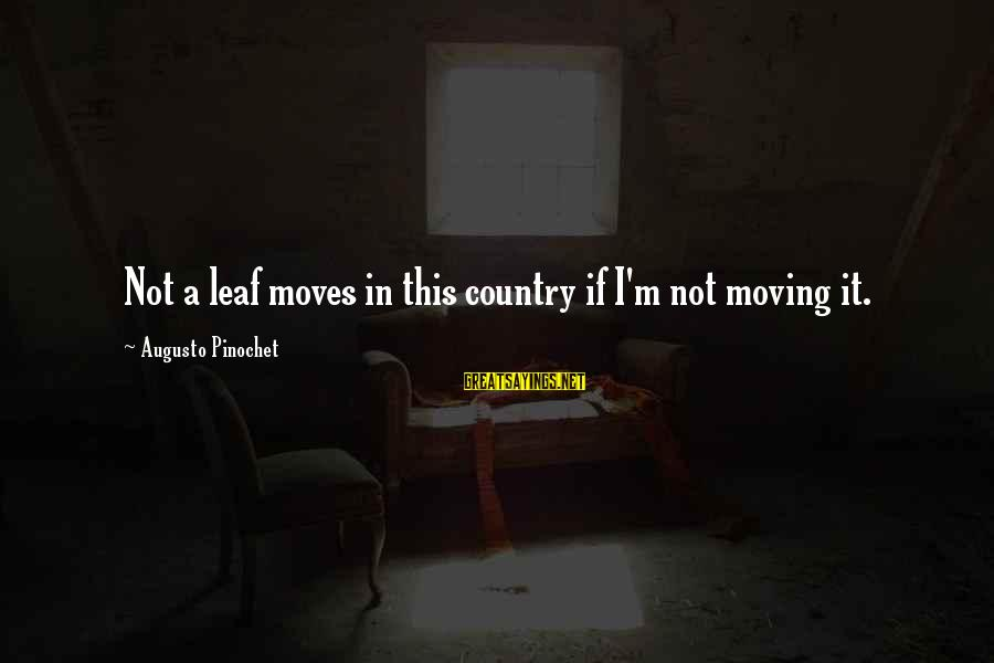 Leafs Sayings By Augusto Pinochet: Not a leaf moves in this country if I'm not moving it.