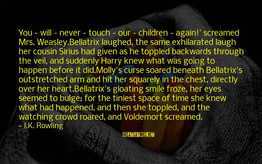 Lestrange Sayings By J.K. Rowling: You - will - never - touch - our - children - again!' screamed Mrs.