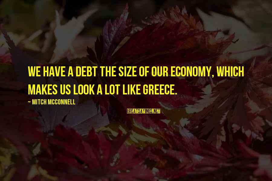Lies And Trust In A Relationship Sayings By Mitch McConnell: We have a debt the size of our economy, which makes us look a lot
