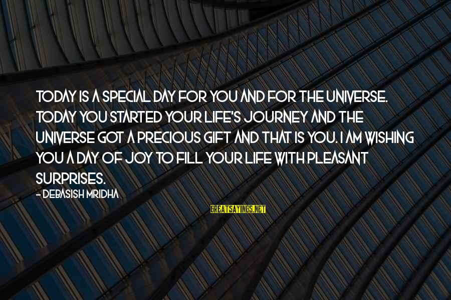 Life And Journey Sayings By Debasish Mridha: Today is a special day for you and for the universe. Today you started your
