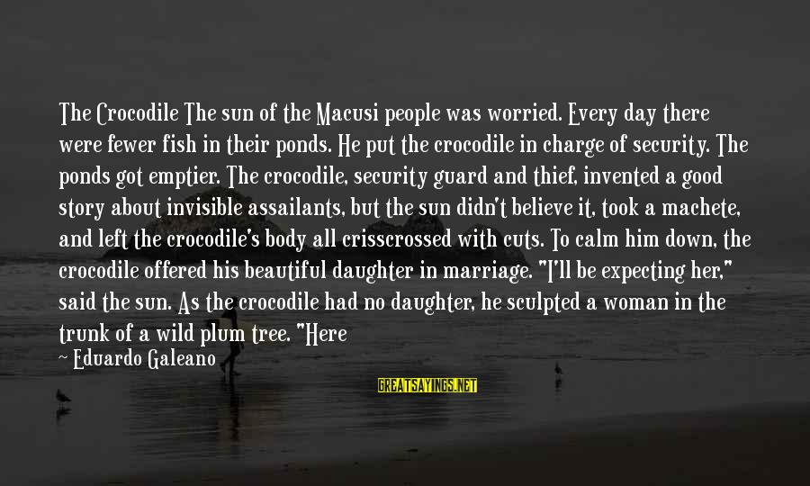 Life Before Marriage Sayings By Eduardo Galeano: The Crocodile The sun of the Macusi people was worried. Every day there were fewer