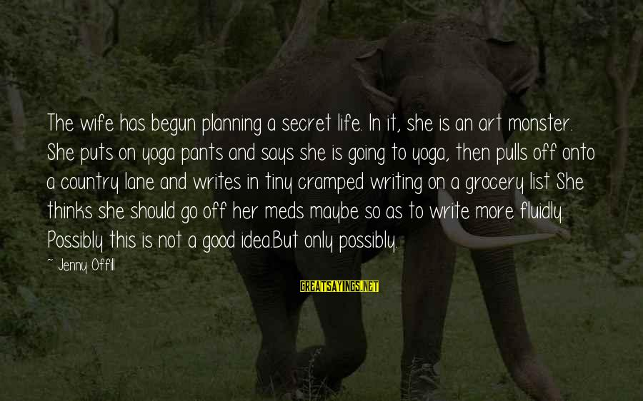 Life Is Going Good Sayings By Jenny Offill: The wife has begun planning a secret life. In it, she is an art monster.