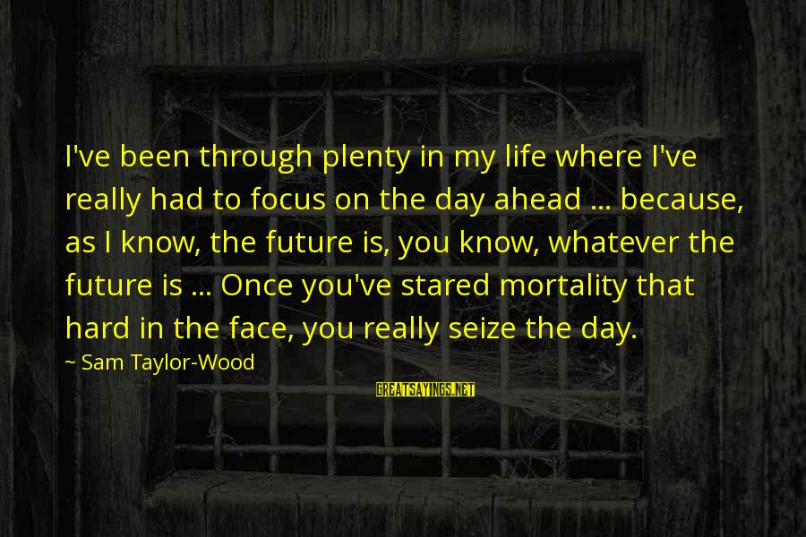 Life Seize The Day Sayings By Sam Taylor-Wood: I've been through plenty in my life where I've really had to focus on the