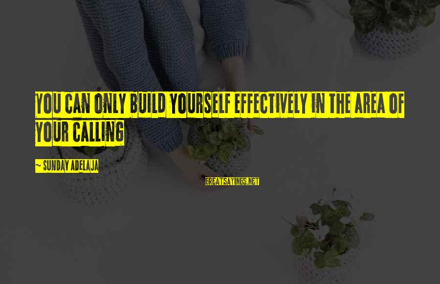 Life Time Love Sayings By Sunday Adelaja: You can only build yourself effectively in the area of your calling