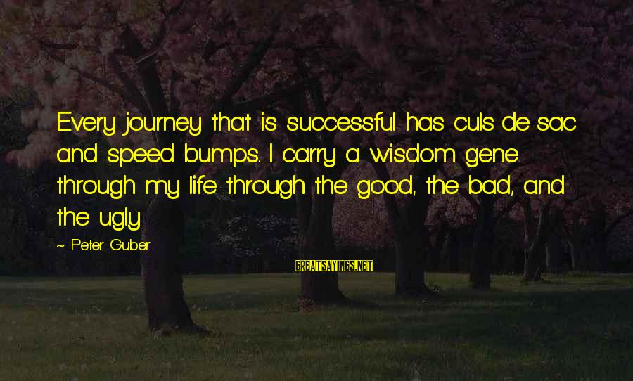 Life's Speed Bumps Sayings By Peter Guber: Every journey that is successful has culs-de-sac and speed bumps. I carry a wisdom gene