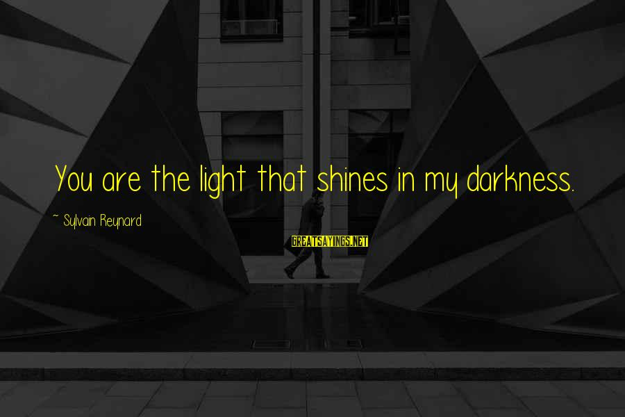 Light Shines In The Darkness Sayings By Sylvain Reynard: You are the light that shines in my darkness.