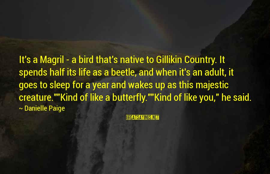 Like A Bird Sayings By Danielle Paige: It's a Magril - a bird that's native to Gillikin Country. It spends half its