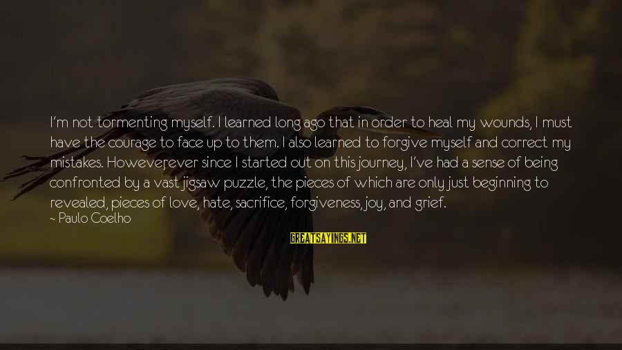 Long Journey Love Sayings By Paulo Coelho: I'm not tormenting myself. I learned long ago that in order to heal my wounds,
