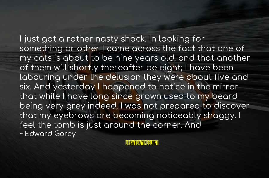 Looking In A Mirror Sayings By Edward Gorey: I just got a rather nasty shock. In looking for something or other I came