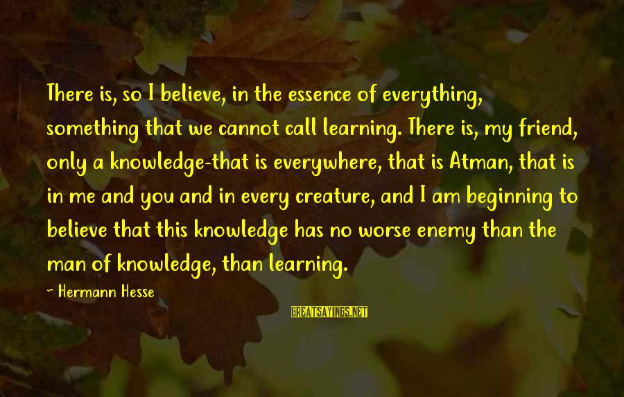 Lord Keep Me Safe Sayings By Hermann Hesse: There is, so I believe, in the essence of everything, something that we cannot call