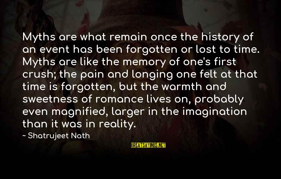 Lost In Reality Sayings By Shatrujeet Nath: Myths are what remain once the history of an event has been forgotten or lost