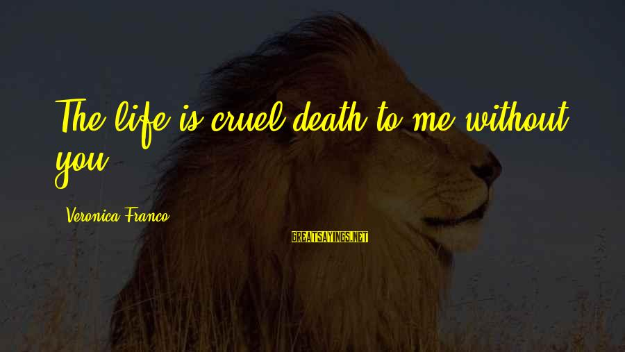Love Abandoned Sayings By Veronica Franco: The life is cruel death to me without you.