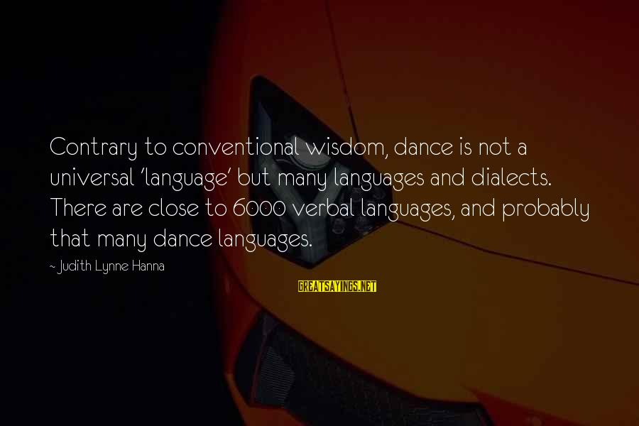 Love And Marriage From The Bible Sayings By Judith Lynne Hanna: Contrary to conventional wisdom, dance is not a universal 'language' but many languages and dialects.