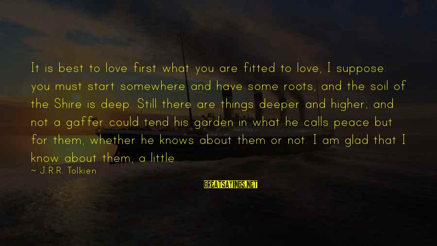 Love First Love Sayings By J.R.R. Tolkien: It is best to love first what you are fitted to love, I suppose: you