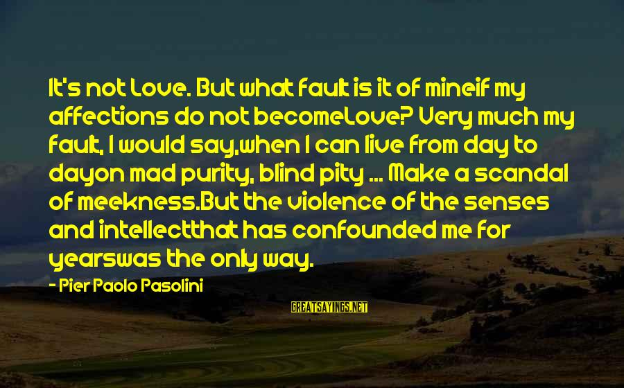 Mad For Love Sayings By Pier Paolo Pasolini: It's not Love. But what fault is it of mineif my affections do not becomeLove?