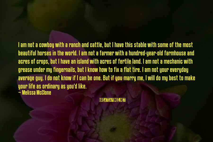 Make Your Life Beautiful Sayings By Melissa McClone: I am not a cowboy with a ranch and cattle, but I have this stable