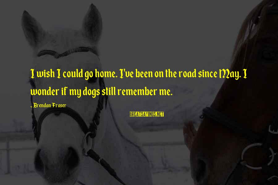 Mcr Killjoy Sayings By Brendan Fraser: I wish I could go home. I've been on the road since May. I wonder