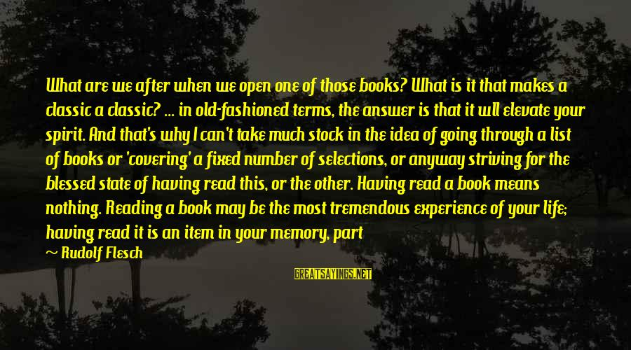 Means Of Old Sayings By Rudolf Flesch: What are we after when we open one of those books? What is it that
