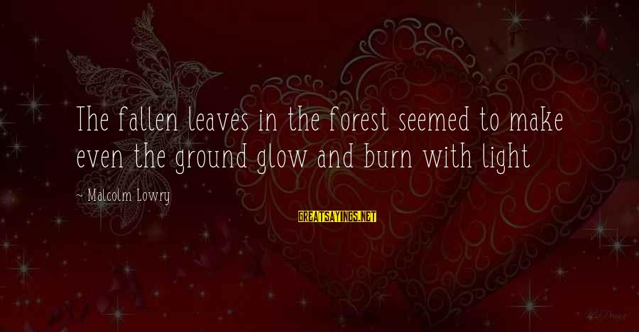 Megavitamin Sayings By Malcolm Lowry: The fallen leaves in the forest seemed to make even the ground glow and burn