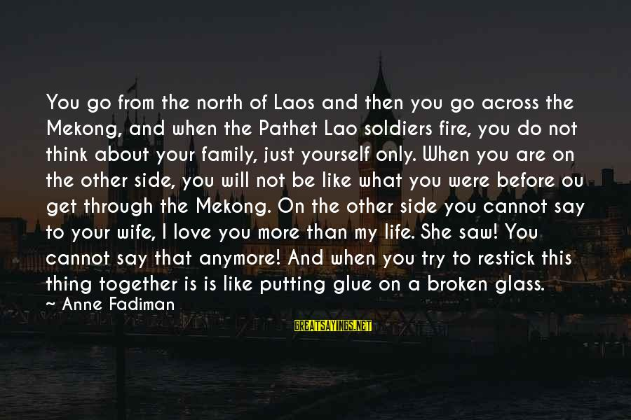 Mekong Sayings By Anne Fadiman: You go from the north of Laos and then you go across the Mekong, and