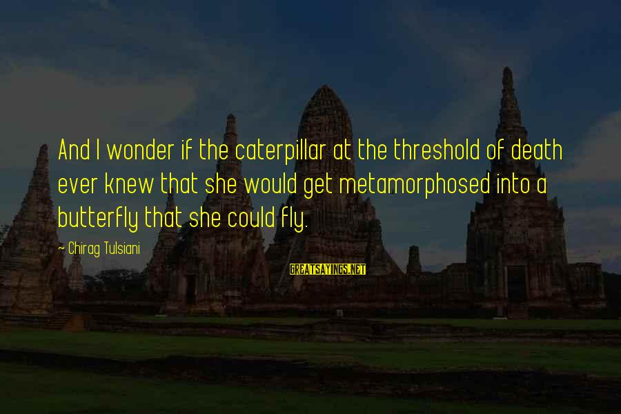 Metamorphosed Sayings By Chirag Tulsiani: And I wonder if the caterpillar at the threshold of death ever knew that she