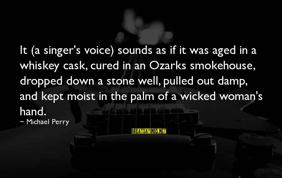Michael Singer Sayings By Michael Perry: It (a singer's voice) sounds as if it was aged in a whiskey cask, cured