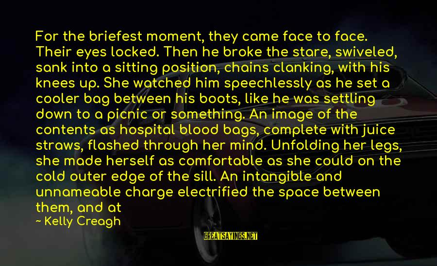 Mind Set Up Sayings By Kelly Creagh: For the briefest moment, they came face to face. Their eyes locked. Then he broke