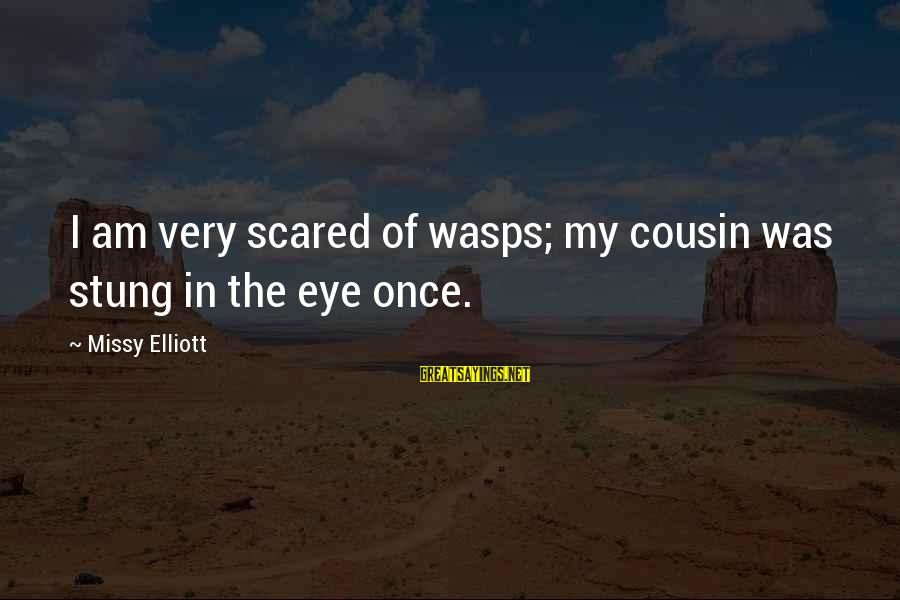 Missy Elliott Sayings By Missy Elliott: I am very scared of wasps; my cousin was stung in the eye once.