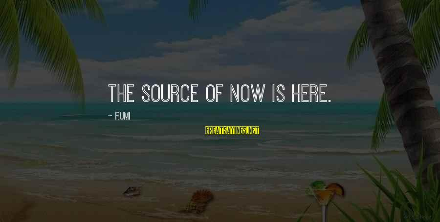 Misto Sayings By Rumi: The source of now is here.