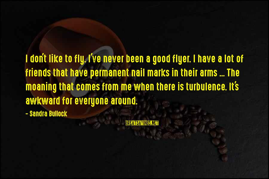 Moaning Sayings By Sandra Bullock: I don't like to fly. I've never been a good flyer. I have a lot