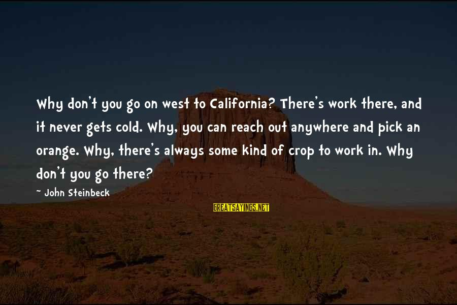Moms With Dementia Sayings By John Steinbeck: Why don't you go on west to California? There's work there, and it never gets