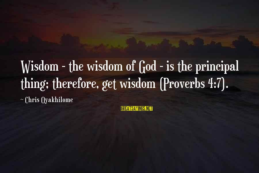 Mongodb Remove Sayings By Chris Oyakhilome: Wisdom - the wisdom of God - is the principal thing; therefore, get wisdom (Proverbs